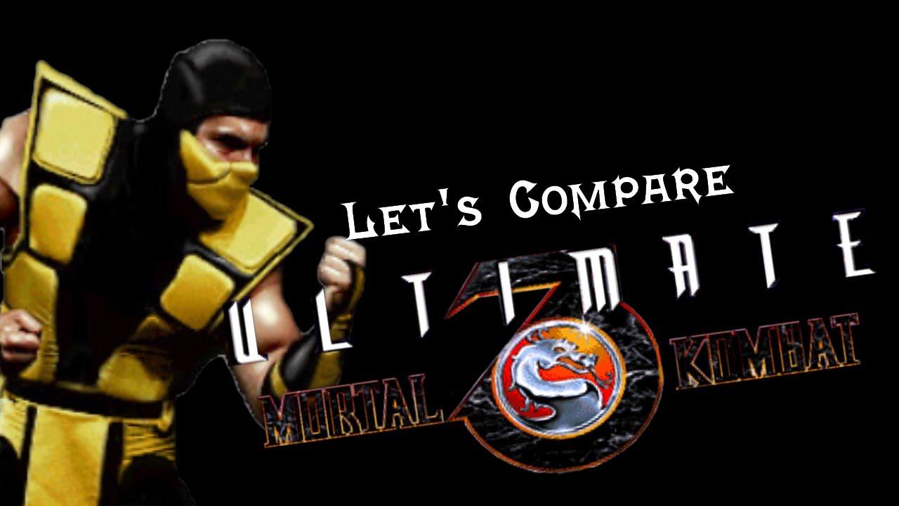 Let's Compare ( Ultimate Mortal Kombat 3 ) – Retrounlim