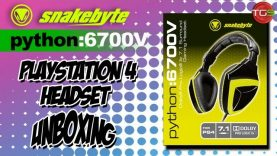 Snakebyte: Python:6700V PS4 Headset Unboxing – Retrounlim