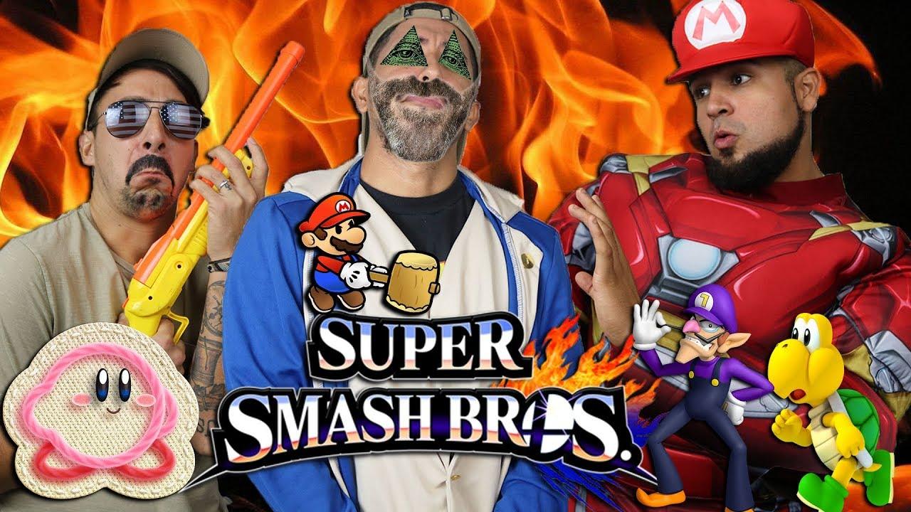 SUPER SMASH FLASH 2! pt  2! GOKU vs SUPER MARIO vs GENO vs