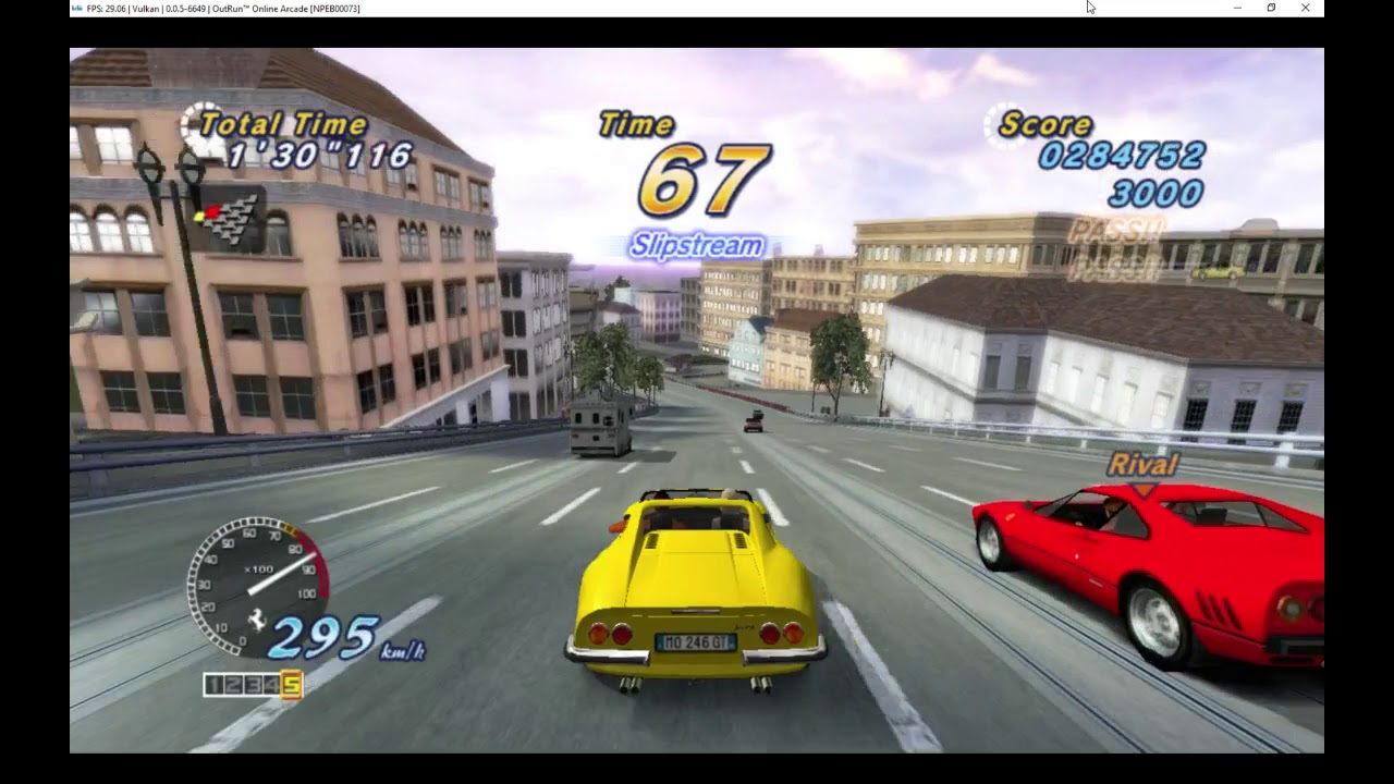 Outrun2 Arcade (PS3) running on the RPCS3 PS3 Emulator on PC